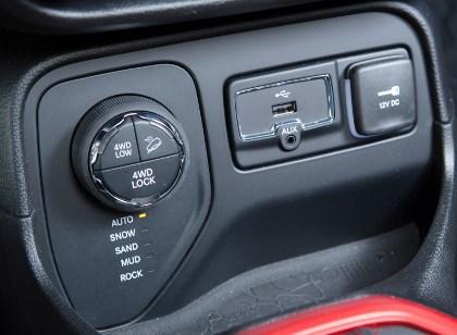 Neuer Renegade: Innenraum interior, 4WD Schalter