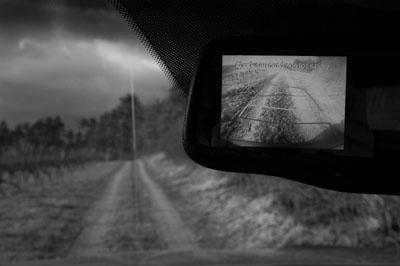 Kia Sorento Test: Spiegelkamera, Kamera im Spiegel