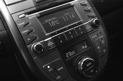 Kia Soul Diesel Test: Innenraum, Mittelkonsole