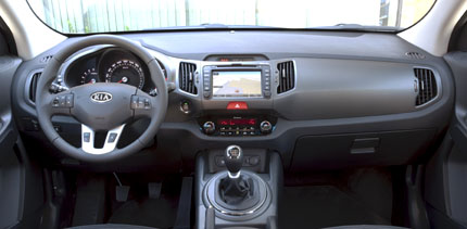Kia Sportage Test: Cockpit, Armaturenbrett, Lenkrad