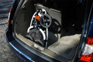 Voyager, Kofferraum, trunk, Test