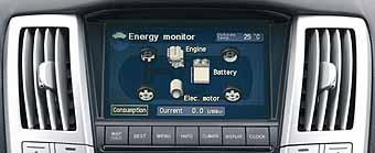 Lexus RX 400h Hybridanzeige