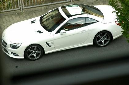 Mercedes SL: Dach geschlossen