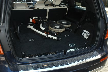 Mercedes GL: Kofferraum, trunk