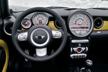 Mini Cooper Cabrio Test: Cockpit