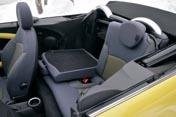 Mini Cabrio Test: hinten sitzen