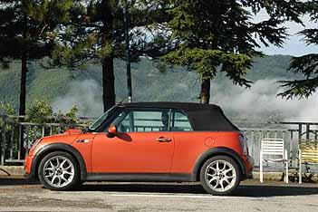 Mini Cabrio Test: Dach, geschlossen