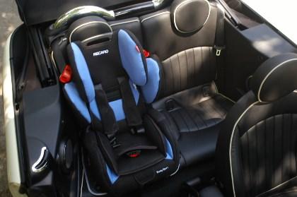 Mini Cabrio Test. hinten sitzen