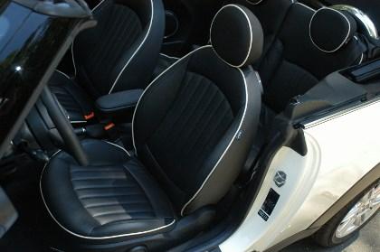Mini Cooper SD Cabrio Test: Sitze, Ledersitze