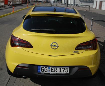 Opel Astra GTC Turbo: Heck