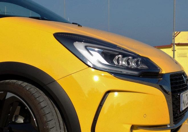 DS3 Performance Gelb Schwarz Scheinwerfer, Front