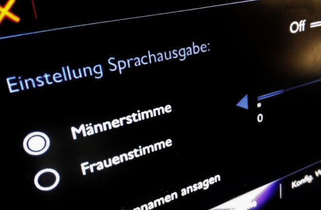 DS3 Navigation Sprache einstellen
