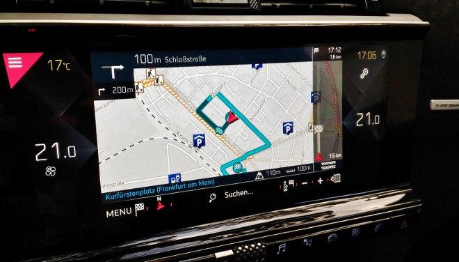 DS7 Naviagtionsystem, großer Touchscreen Bildschirm