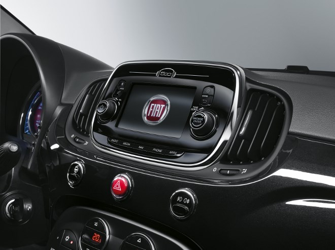 Neuer Fiat 500 Monitor