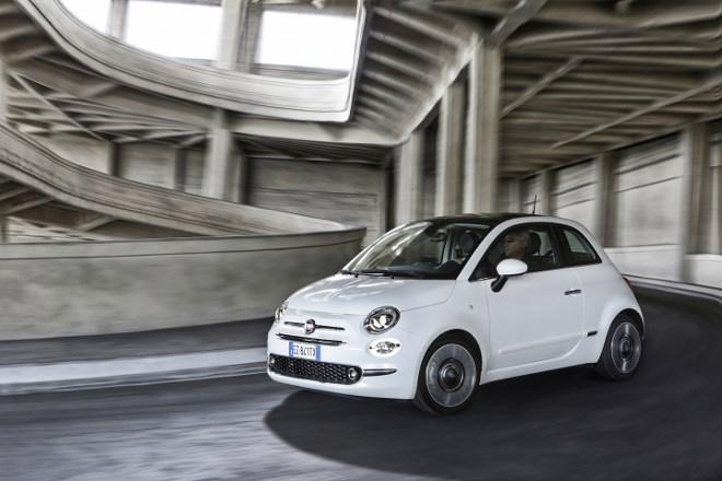 Neuer Fiat 500 von der Seite