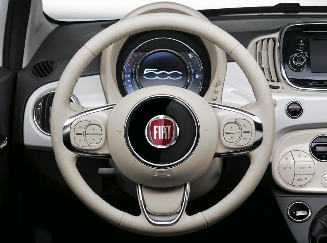Neuer Fiat 500 Lenkrad weiss