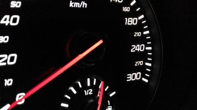Kia Stinger GT Tacho 300 km/h