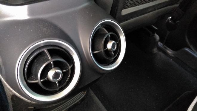 Alfa Stelvio SUV, Luftdüsen hinten