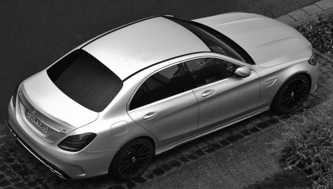 Mercedes C63 S in Silbern