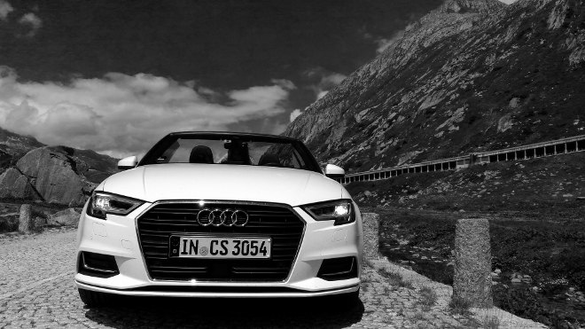 Audi A3 Cabrio Front weiss Facelift 2018