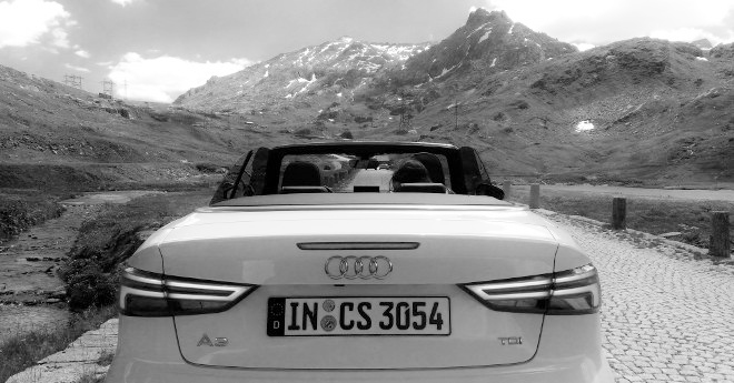 Audi A3 Cabrio weiss, Heck