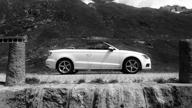 Audi A3 Cabrio weiss Seite