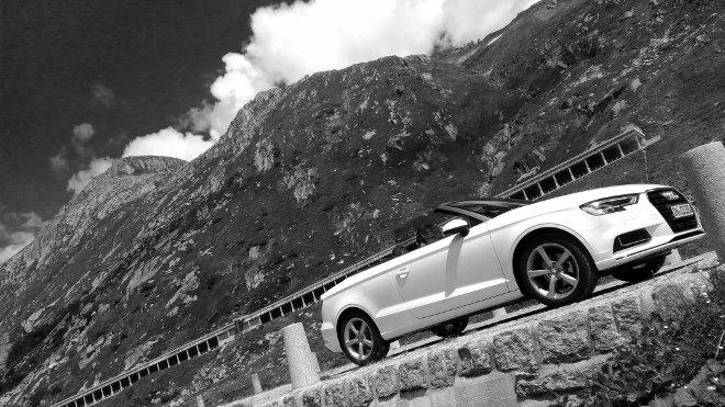 Audi A3 Cabrio seite weiss Facelift 2018