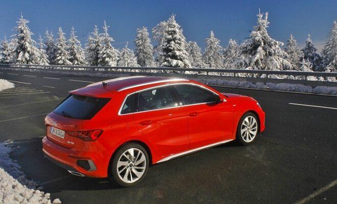 Audi A3 Sportback in Rot