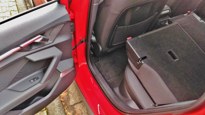 Audi A3 Sportback umgelegte, flach gelegte, umgreklappte Sitzbank