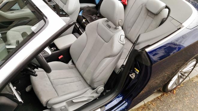 Audi A5 Cabrio TDI Sitze vorne und hinten