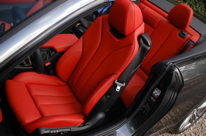 BMW 430d Cabrio Sitze Test