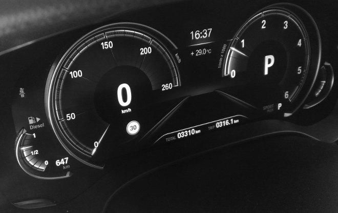 BMW 540d Touring Sportinstrumente 2018