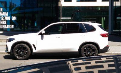 BMW X5 xDrive 30d in weiss, Seitenansicht