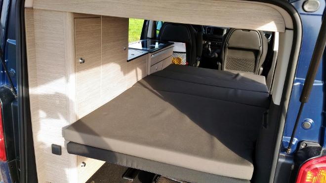 Citroen Campster Wohnmobil Bett unten