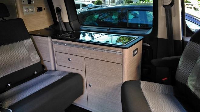 Citroen Campster Wohnmobil Sitzbank und Sitze und Küchenzeile