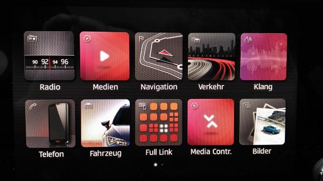 Cupra Ateca Menu Touchscreen