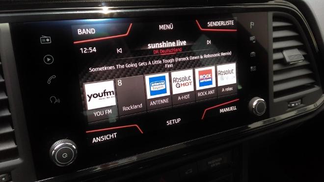 Cupra Ateca Radio Bildschirm