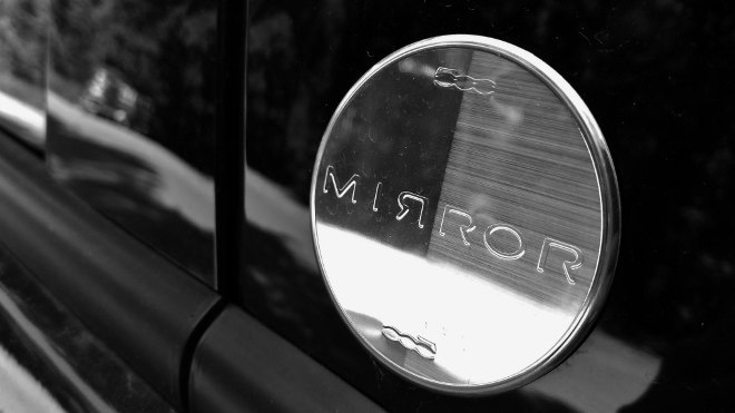 Fiat 500l Mirror Emblem, Logo 2018, 2019