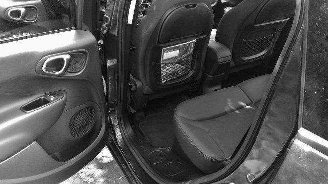 Fiat 500l verschiebbare Rücksitze, Position hinten