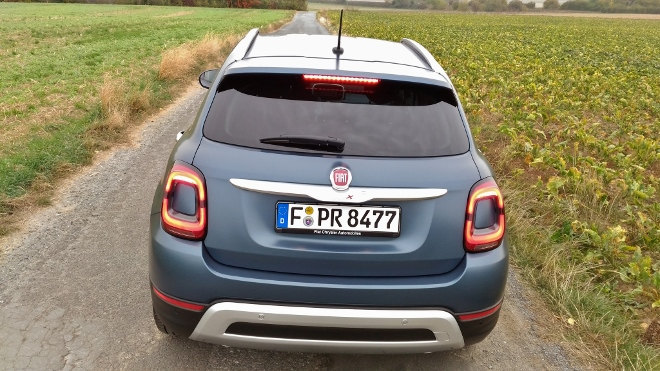 Fiat 500 X Facelift, Heck, Diffusor