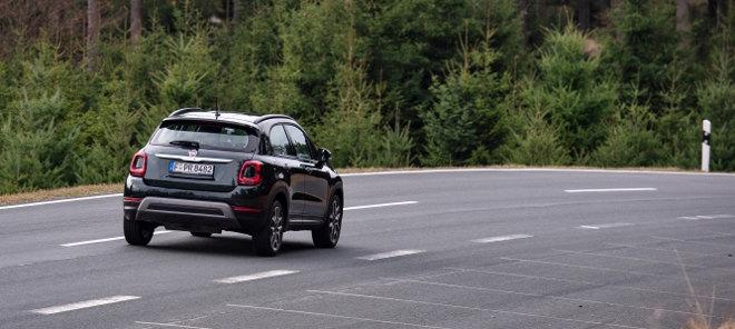 Fiat 500 X Facelift, rot, von hinten