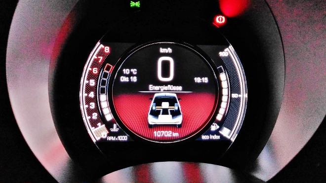 Fiat 500 Hybrid Anzeige sparen