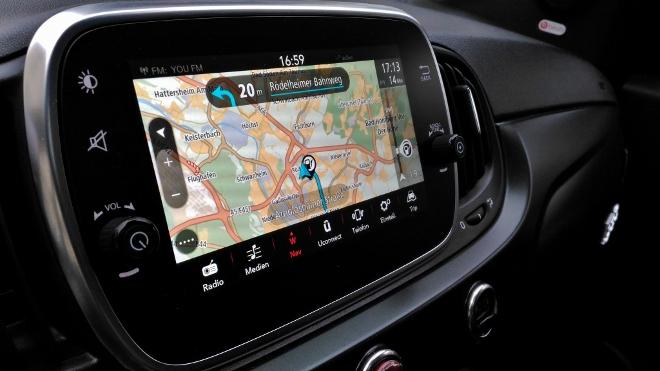 Bildschirm Fiat 500 Hybrid