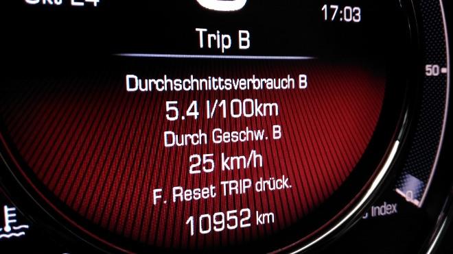 Verbrauch Anzeige Fiat 500 Hybrid