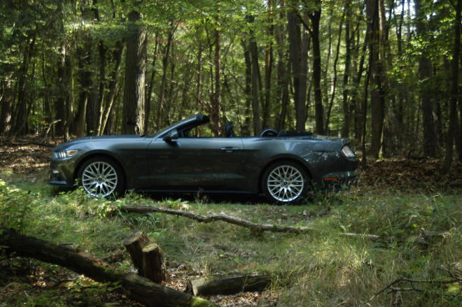 Ford Mustang Cabrio offen
