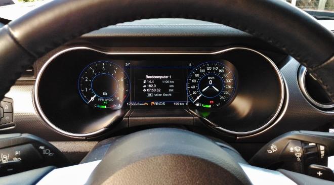Instrumente Mustang Cabrio V8 Facelift