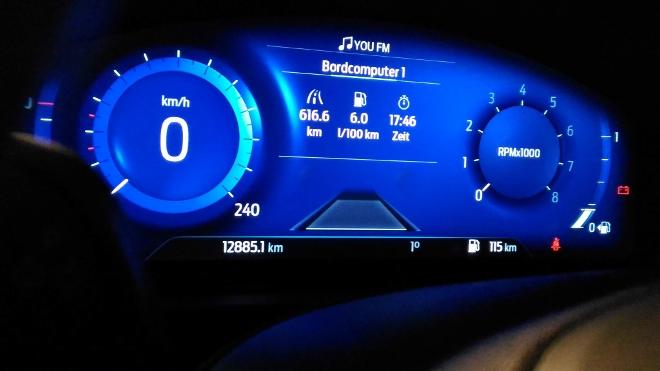 Ford Puma Hybrid Test: Digitaltacho