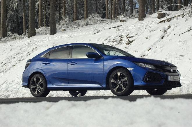 Honda Civic 10 2018, blau, Seite