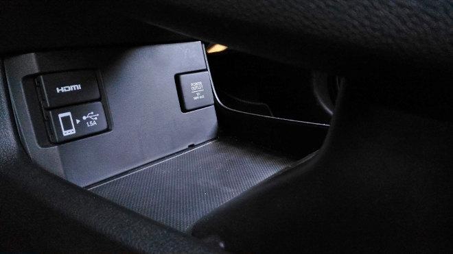 Honda Civic Hatchback, Fach, Ablagen