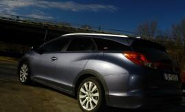 Honda Civic Tourer Diesel Seitenansicht Heck